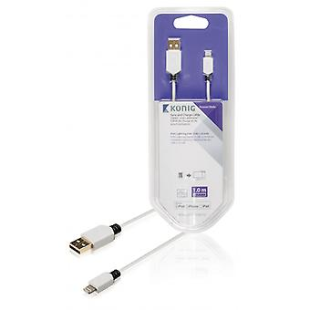 König Sync and charging cable Apple Lightning-A male 1.00 m white