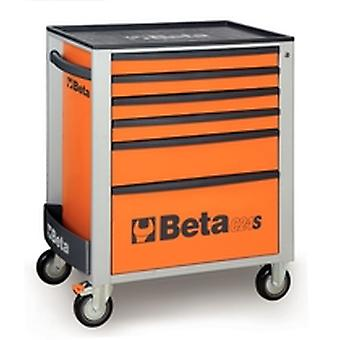 C24S 6/R Beta Mobile Roller Cabinet With Six Drawers