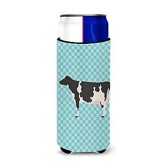 Holstein Cow Blue Check Michelob Ultra Hugger for slim cans