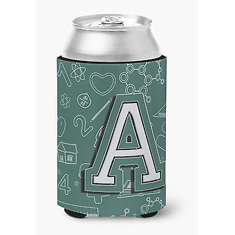 Letter A Back to School Initial Can or Bottle Hugger