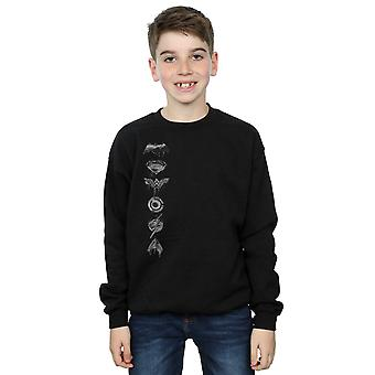 DC Comics gutter Justice League film sprayet emblemer Sweatshirt
