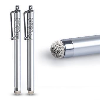 Caseflex Stylus Pen - Silver (Twin Pack)