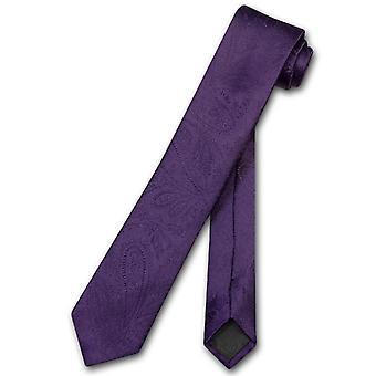Vesuvio Napoli étroite cravate Paisley solides 2.5