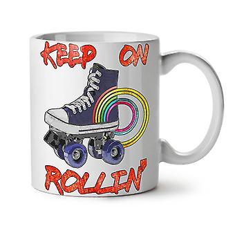 Rollin Disco Old Fashion NEW White Tea Coffee Ceramic Mug 11 oz | Wellcoda