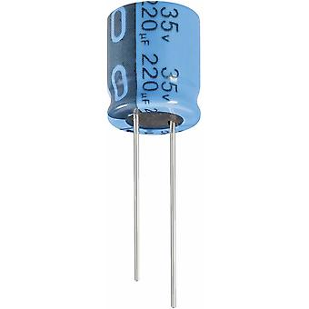 Electrolytic capacitor Radial lead 7.5 mm 1000 µF