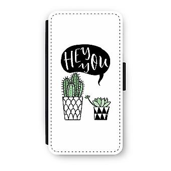 Huawei P9 Flip Case - Hey you cactus