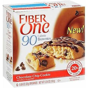 Fiber One 90 Calorie Chocolate Chip Cookie Brownies 2 Box Pack