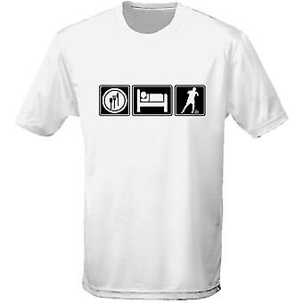 Eten slapen voetbal Kids Unisex T-Shirt 8 kleuren (XS-XL) door swagwear