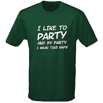 J'aime à partie et partie j'ai signifie prendre Pan Mens T-Shirt 10 couleurs (S-3XL) par swagwear