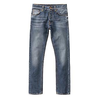 Nudie Jeans Co Fearless Freddie Regular Tapered Jeans (Blue Visions)