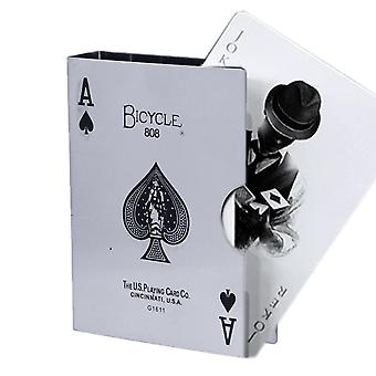 Card Halter bicycle card holder poker card clip guard stainless steel holder