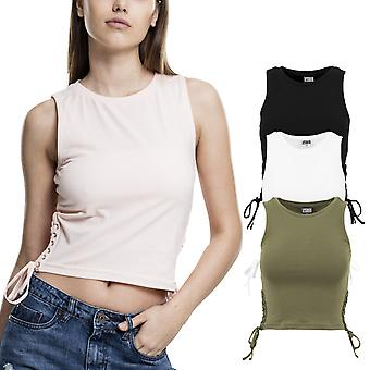 Urban classics ladies - LACES UP tank top shirt belly-free