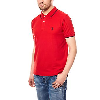 U.S. POLO ASSN. Men's polo shirt short-sleeved Red