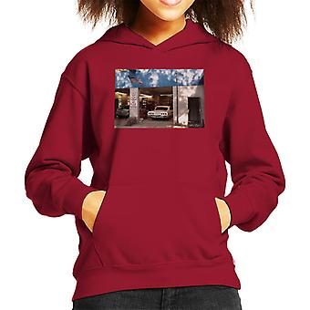 Chevrolet Impala At The Auto Shop Kid's Hooded Sweatshirt