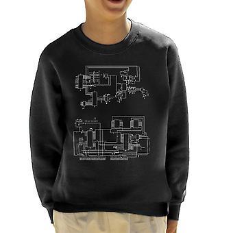 TRS 80 Computer Schematic Kid's Sweatshirt