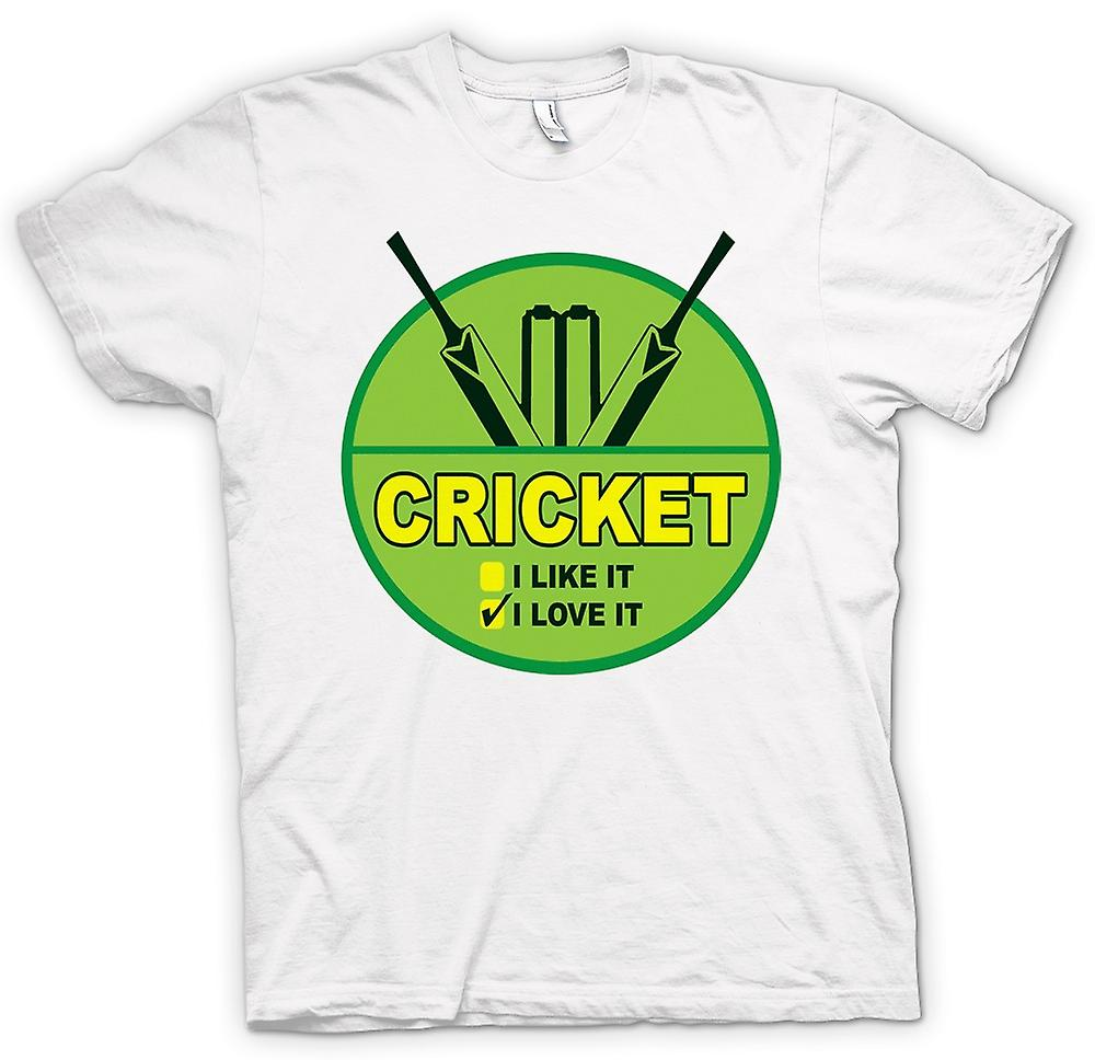Womens T-shirt - Cricket I Love It - Funny