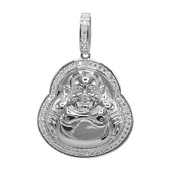 925 Sterling Silber Micro Pave Anhänger - Mini BUDDHA