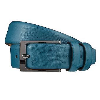 OTTO KERNA bälten mäns bälten läderbälte Denim/blå 3671