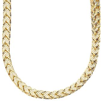Premium bling - Sterling 925 Silver Chain FRANCO - 5x5mm
