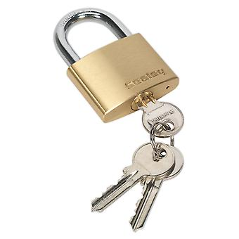 Sealey Pl102 Brass Body Padlock 50Mm