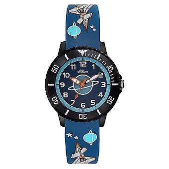 s.Oliver silicone band watch kids SO-3555-PQ