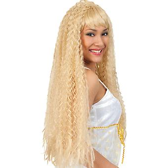 Angel wig blonde long-haired Angel curls of Xmas