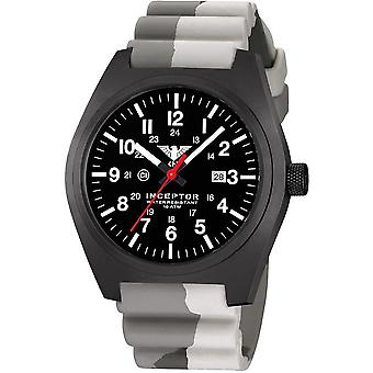 KHS mens watch interceptor black steel KHS. INCBS. DC5