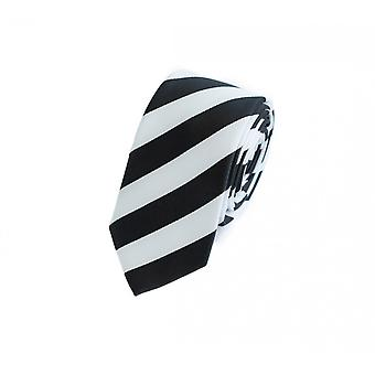 Tie tie tie tie 6cm black Fabio Farini white striped