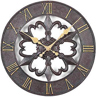 Atlanta 4445 ścienny zegar kwarcowy analogowe okrągłe żelaza wygląd rzymskie