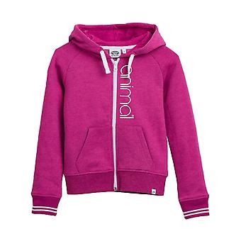 Animal Rosewood Pink Marl College Toddlers Zip Hoody