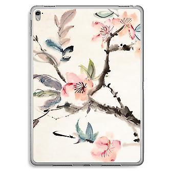iPad Pro 9,7 pulgadas caja transparente (suave) - flores de Japenese