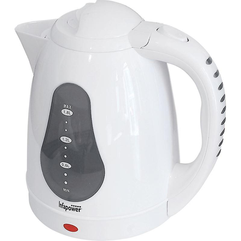 Infapower X502 1.8L 360 Degree Cordless Electric Kettle 2200w - White