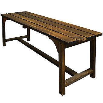 Walton - Solid Wood Garden Bench - Burntwood