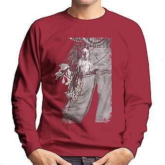 The Smiths Morrissey Flowers In The Back Pocket Men's Sweatshirt