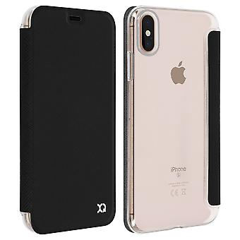 Flip Book cover, Xqisit slim wallet case for Apple iPhone XS Max - Black