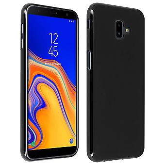Silicone case, Glossy & matte back cover for Samsung Galaxy J6 Plus - Black