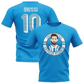 Camiseta de Lionel Messi Argentina ilustración (cielo)