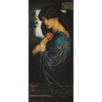 Proserpine, Dante Gabriel Rossetti, 80x40cm