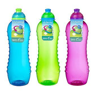Sistema Twist 'n' Sip Bottles 620ml Blue Green Pink