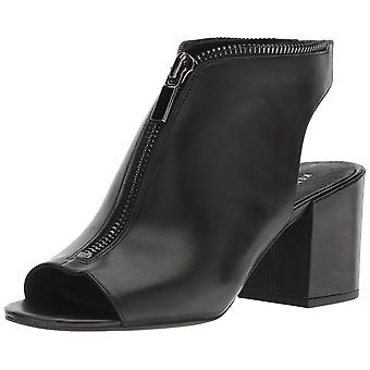 Kenneth Cole New York Women's Verve Peep Toe Dress Bootie Front Zip Ankle Boot