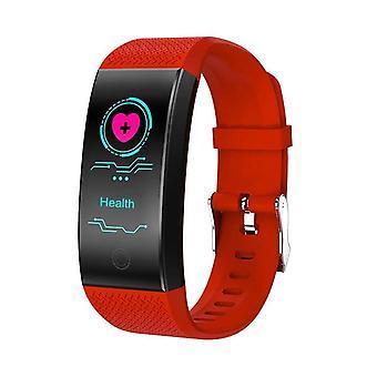 QW18 slimme activiteit armband met een kleur display-rood