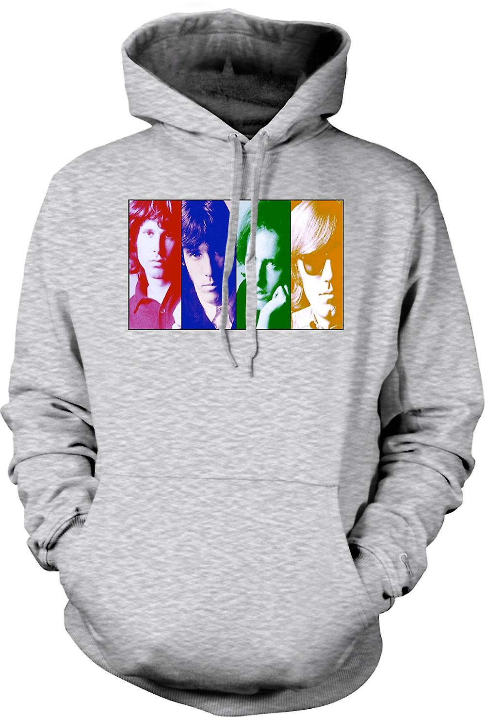 Mens Hoodie - la porte - Collage - Pop Art
