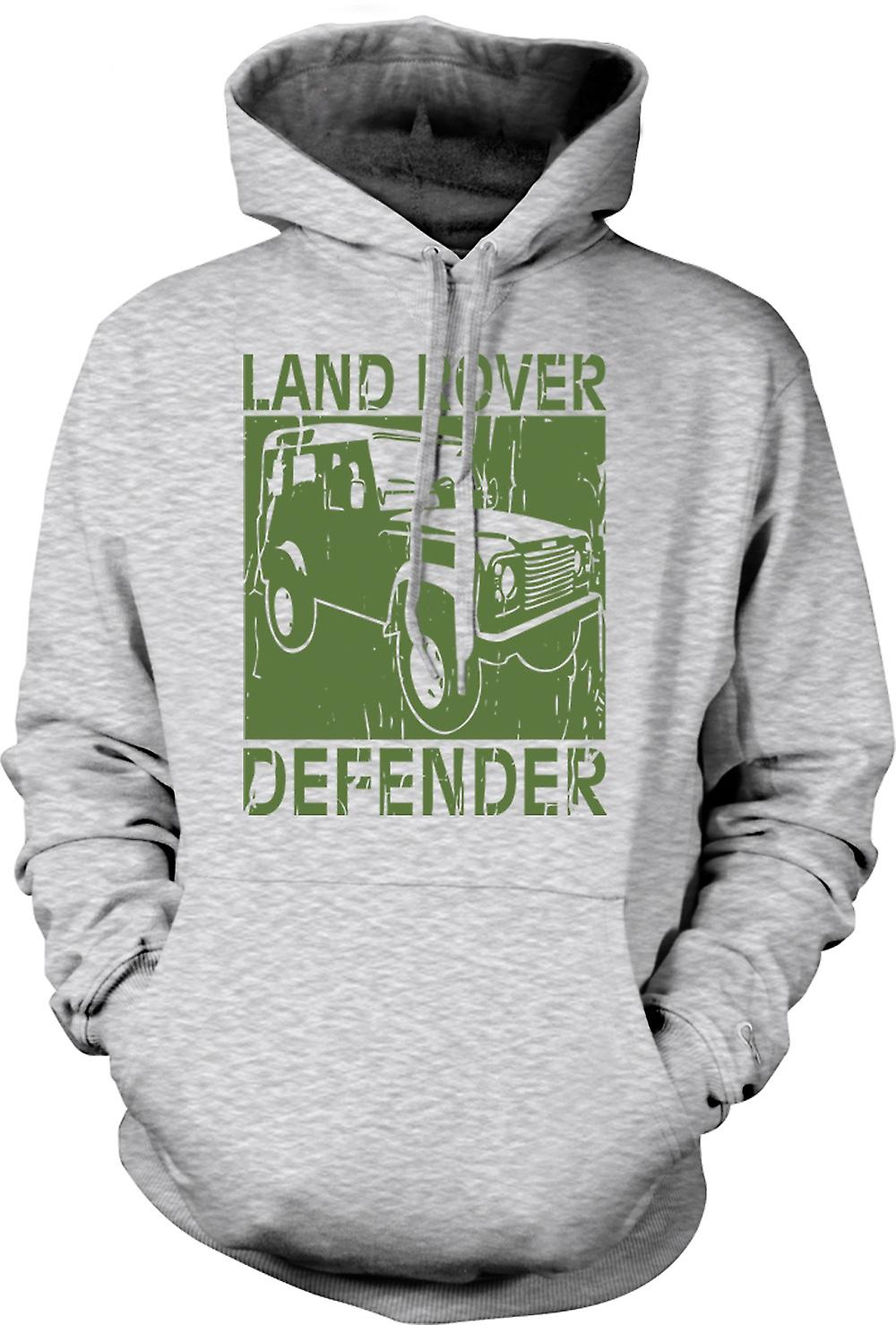 Mens Hoodie - Landrover Defender Offroad