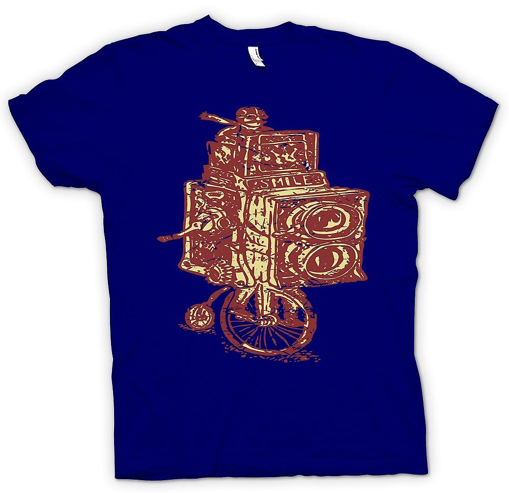 Mens T-shirt - Vintage Camera - Penny Black - Vintage Design
