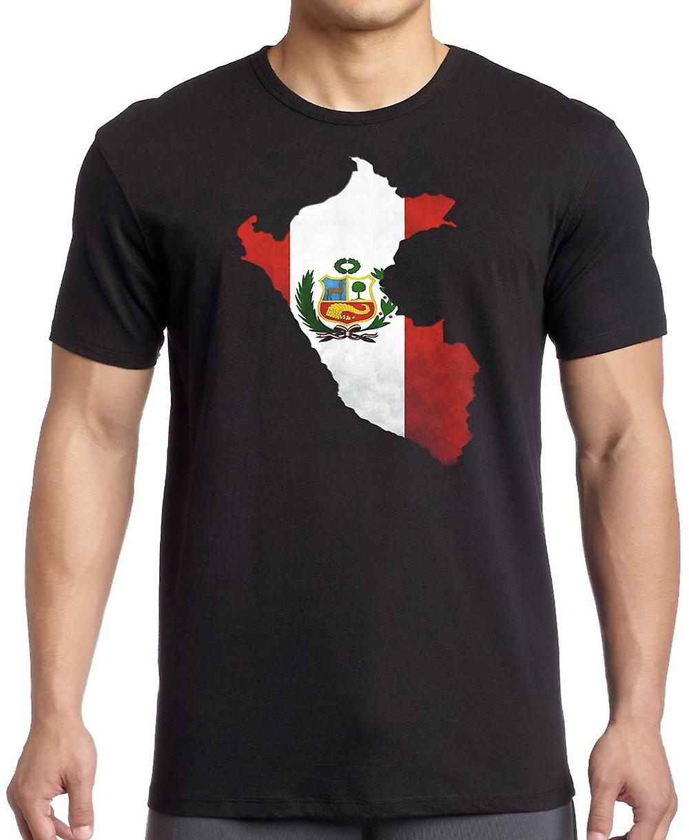 Peru Peruvian Flag Map Kids T Shirt