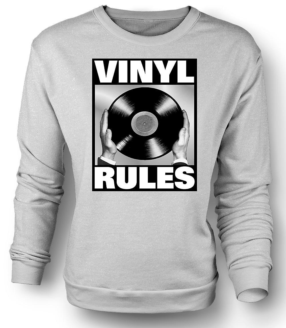 Mens Sweatshirt Vinyl Rules - DJ Mixing