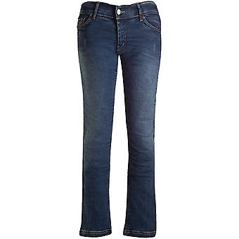 Bull-It Blue Vintage SR6 Straight - Short Womens Motorcycle Jeans