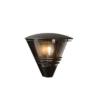 Luz de parede preta lucide Livia moderno meia-volta de alumínio