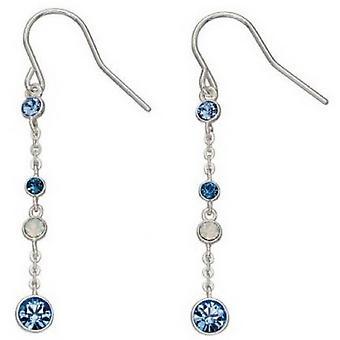 Kolczyki srebrne Swarovski projektowania elementów - niebieski