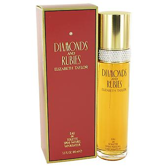 DIAMANTER & RUBIES av Elizabeth Taylor Eau De Toilette Spray 3,4 oz/100 ml (kvinner)